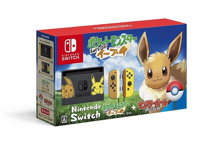 Nintendo Switch ポケットモンスター Let's Go! イーブイセット (モンスターボール Plus付き)イーブイ- switch 本体 任天堂スイッチ ポケモン pokemon HAC-S-KFAGB
