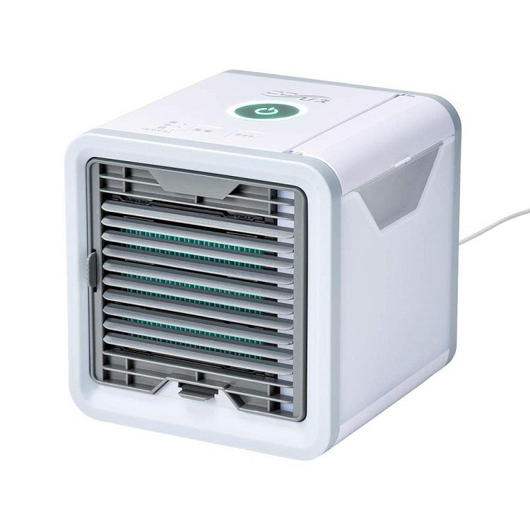 6月下旬入荷。ここひえ 卓上扇風機 サーキュレーター パーソナルクーラー 冷風扇 冷風機 冷風 エアコン USB扇風機