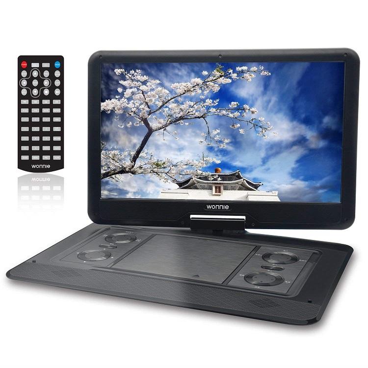 ポータブルDVDプレーヤー 16インチ ワイド 4時間連続再生可能 リージョンフリー CPRM/SD/MS/MMカード/USB対応 車載 270度回転 バッテリー内蔵 大画面 リージョンフリー ゲーム機能付き メーカー
