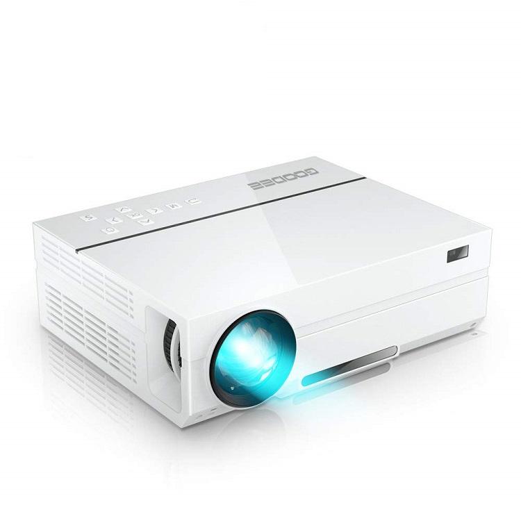 GooDee プロジェクター 1920*1080リアル解像度 4000ルーメン 2019年アップグレード版 自動台形補正 ネイティブ 1080PフルHD&1677万色 パソコン/スマホ/タブレット/ゲーム機接続可能 USB*2/HDMI*2/AV/VGA対応 スピーカー2つ内臓 ホーム/ビジネスプロジェクター 日本語取扱書