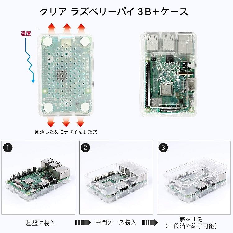 raspberry pi 3A case clear