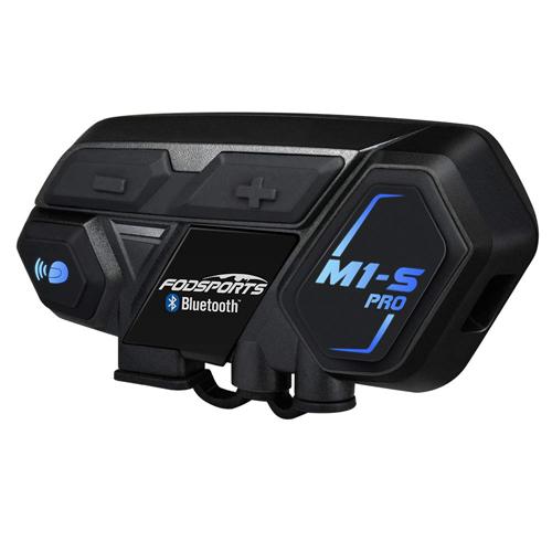 FODSPORTS バイク インカム M1-S Pro 最大8人同時通話 Bluetooth4.1 強い互換性 連続使用20時間 日本語音声案内 マルチデバイス接続 インターコム 防水 HI-FI音質 Siri/S-voice ワイヤレス 2種類マイク 日本語オペレーションシステム&説明書