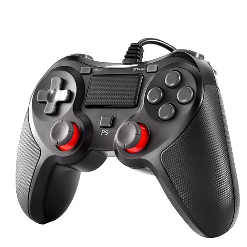 PS4 卸売り コントローラー Blitzl PC Pro 驚きの価格が実現 Slim PS3 Win7 ゲームパッド 10 有線 二重振動 8 B084ZJG988 人体工学 対応