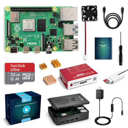 LABISTS Raspberry4 4B-32GB 技適マーク入 MicroSDHCカード32G NOOBSシステムプリインストール カードリーダ 5.1V スイッチ付電源 MicroHDMI-to-HDMIケーブルライン 信憑 Type-C 3A B082VVJCPT 簡単に取り付けケース 日本語取扱説明書 三つヒートシンク 割引