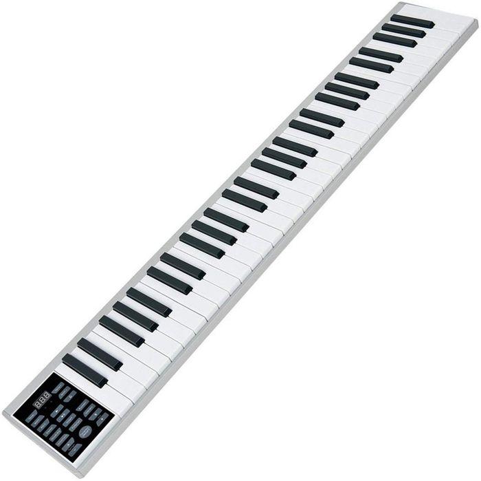 ニコマク 電子ピアノ 携帯型 SWAN 61鍵 軽量小型 本当のピアノと同じサイズ ワイヤレス長時間利用可能 練習にピッタリ 収納バッグ付き MIDI対応