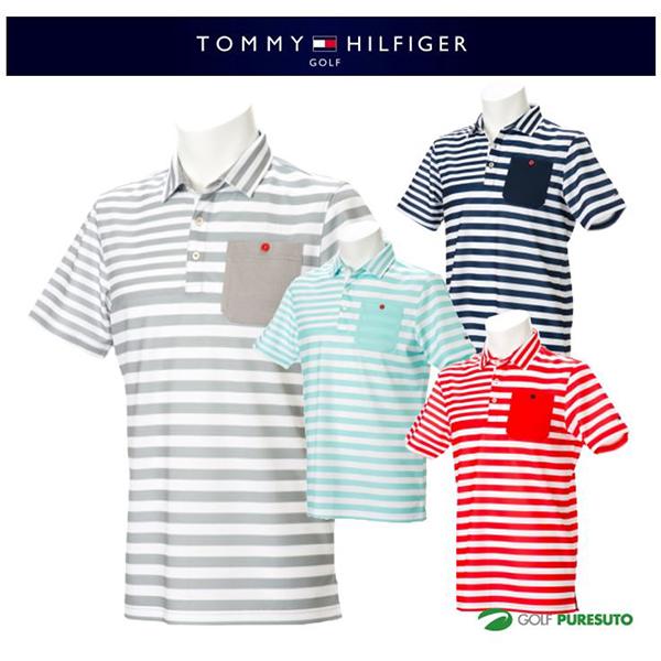 【即納!】トミー ヒルフィガー ゴルフ マルチボーダー ポロシャツ THMA713 [TOMMY HILFIGER トミーヒルフィガー 2017年春夏ウェア]【あす楽対応】