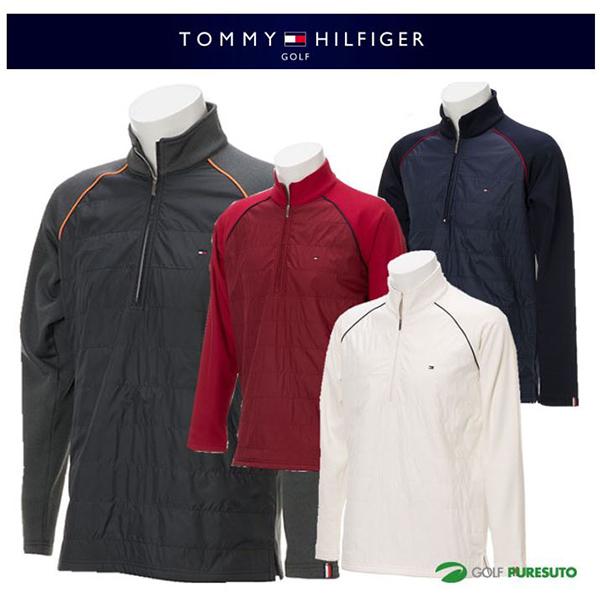 【即納!】トミー ヒルフィガー ゴルフ 長袖ジップアップハイネックシャツ THMA785 [TOMMY HILFIGER トミーヒルフィガー 2017年秋冬ウェア]【あす楽対応】