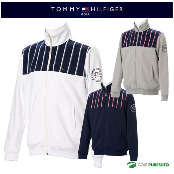 【即納!】トミー ヒルフィガー ゴルフ ストライプトラックジャケット THMA719 [TOMMY HILFIGER トミーヒルフィガー 2017年春夏ウェア]【あす楽対応】
