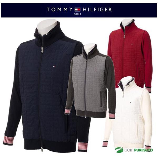 【即納!】トミー ヒルフィガー ゴルフ キルトジップアップニット セーター THMA789 [TOMMY HILFIGER トミーヒルフィガー 2017年秋冬ウェア]【あす楽対応】