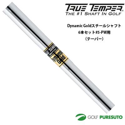 トゥルーテンパー Dynamic Gold スチールシャフト アイアン用 6本セット #5-PW用【■OK■】[日本正規モデル] テーパーティップ