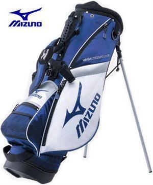 【ジュニア】ミズノ8.0型スタンド式 キャディバッグ45CM-01473 ホワイト×ネイビー【140タイプ】[Mizuno Golf junior]【■M■】