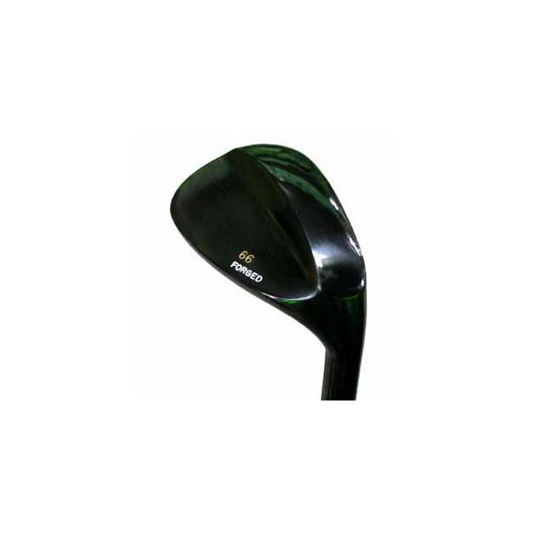 ハンドメイド角溝黒塗りロブウェッジ(ふわり) NS PRO 950H (スチール)シャフト【■Hi■】