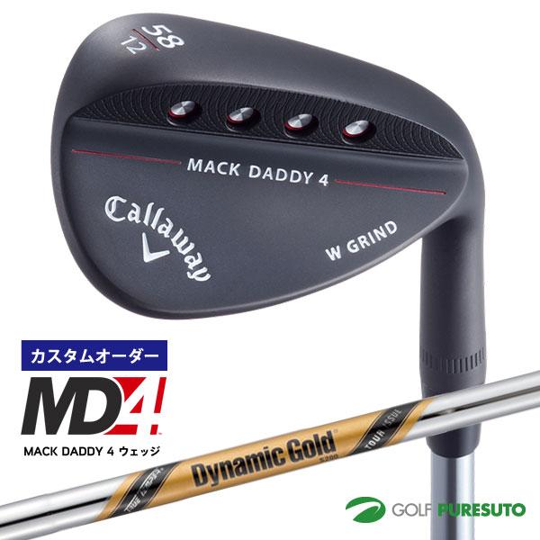 【カスタムオーダー】キャロウェイ MACK DADDY 4ウェッジ マットブラック Dynamic Gold Tour Issue スチールシャフト[日本仕様][MD4 マックダディー]【■CCO■】
