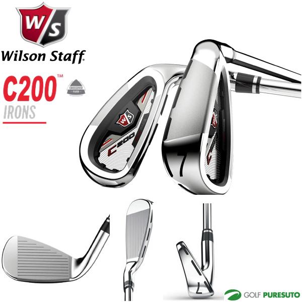 ウィルソン C200アイアン 6本セット(#5~PW)カーボンシャフト [Wilson staff]【■Kas■】