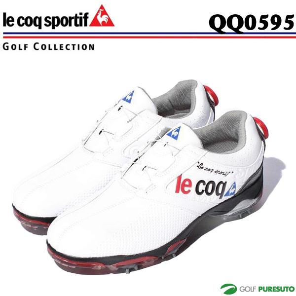【即納!】ルコックゴルフ QQ0595 ゴルフシューズ ホワイト×ホワイト(XN30)ヒールダイヤル式WLS【あす楽対応】 メンズ