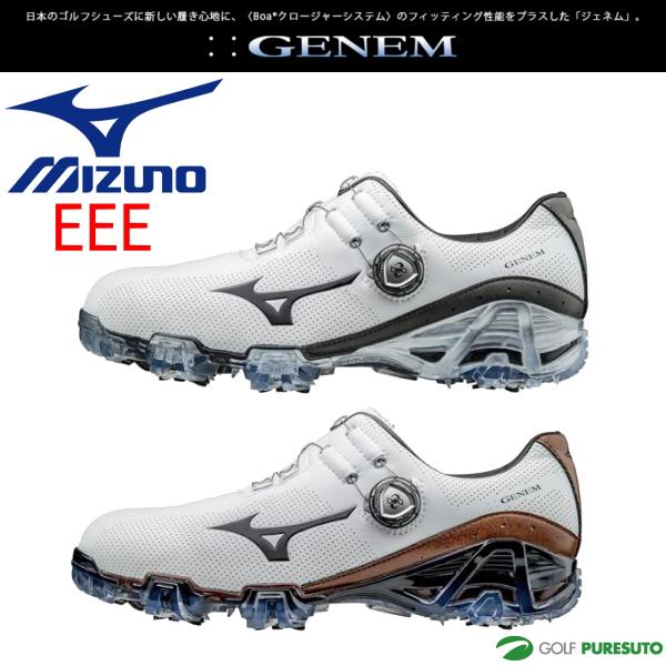 【即納!】ミズノ ジェネム007 ボア ゴルフシューズ メンズ 51GM1700** 【EEE】[Mizuno GENEM 3E boa 靴]【あす楽対応】