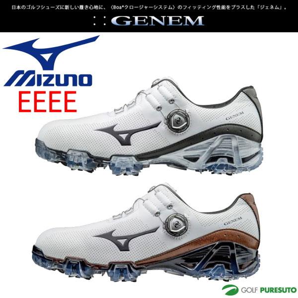 【即納!】ミズノ ジェネム007 ボア ゴルフシューズ メンズ 51GQ1700** 【EEEE】[Mizuno GENEM 4E boa 靴]【あす楽対応】