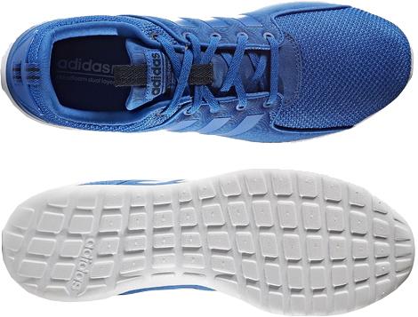 阿迪达斯云形式灯新速度比赛者人运动鞋AW4028蓝色/高等专门学校深蓝[adidas CLOUDFOAM LITE NEORACER走路用的鞋跑步鞋]