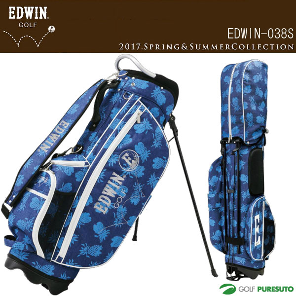 【即納!】エドウィンゴルフ スタンド式キャディバッグ 9型 EDWIN-038S (28425)【あす楽対応】