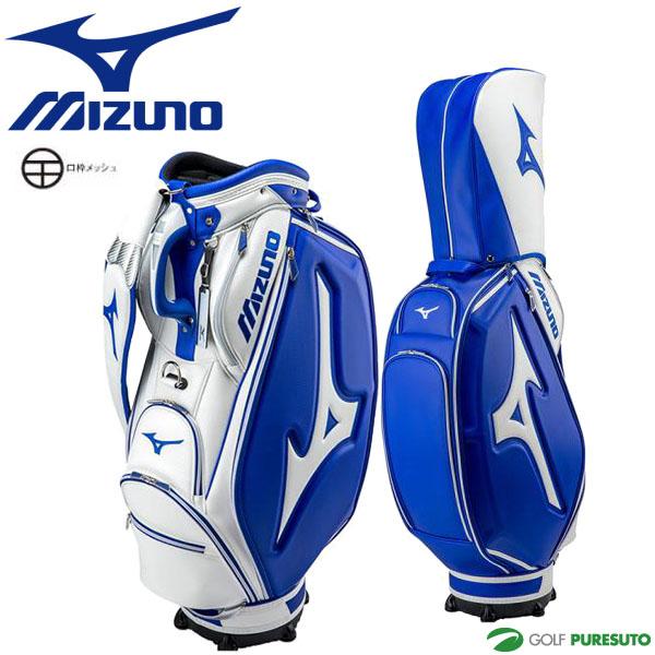 ミズノ ツアーシリーズ レプリカ キャディバッグ 5LJC172200 9.5型 ホワイト×ネイビー[Mizuno Golf Tour Series]【■M■】