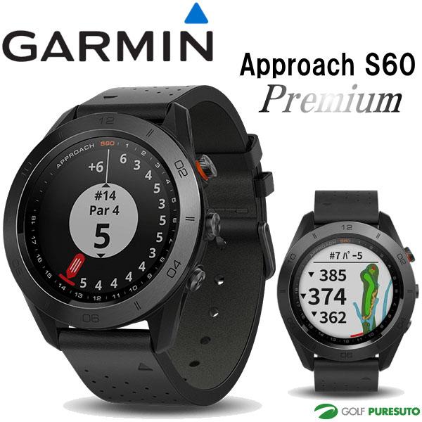 ガーミン アプローチ S60 プレミアム GPSゴルフナビ 010-01702-22 [GARMIN Approach 飛距離測定 ウォッチ 時計型 Premium]【■Kas■】