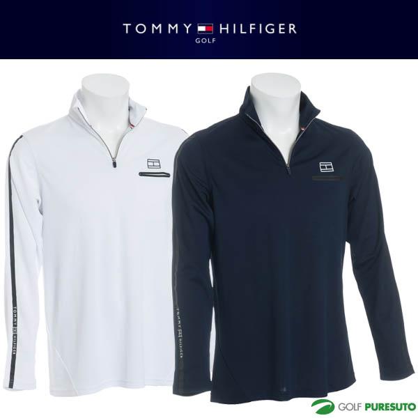【即納!】トミー ヒルフィガー ゴルフ 長袖ハーフジップシャツ メンズ THMA824 【あす楽対応】