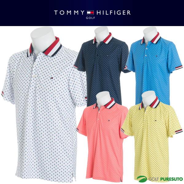 【即納!】トミー ヒルフィガー ゴルフ フラワー 半袖ポロシャツ メンズ THMA859 【あす楽対応】