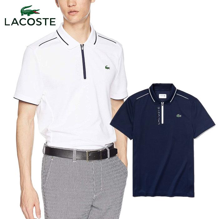 【★最大2000円OFFクーポン★】ラコステ LACOSTE ハーフジップゴルフポロシャツ 半袖 メンズ DH3462L