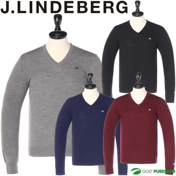 J.リンドバーグ ゴルフ Vネック ツアーメリノセーター メンズ 071-11915
