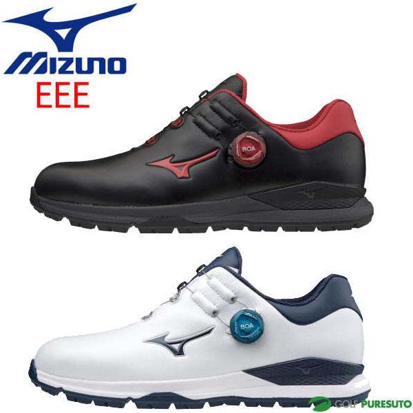 ご注文で当日配送 2020年モデル Mizuno 未使用 GENEM Boa 靴 足幅3E相当 ミズノ EEE相当 メンズ 51GM2000 ボア ジェネム010スパイクレス ゴルフシューズ