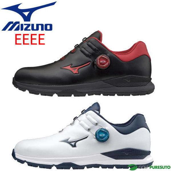 2020年モデル Mizuno GENEM Boa 超目玉 靴 足幅4E相当 ミズノ メンズ ジェネム010スパイクレス 51GQ2000 ゴルフシューズ ボア 定番スタイル EEEE相当