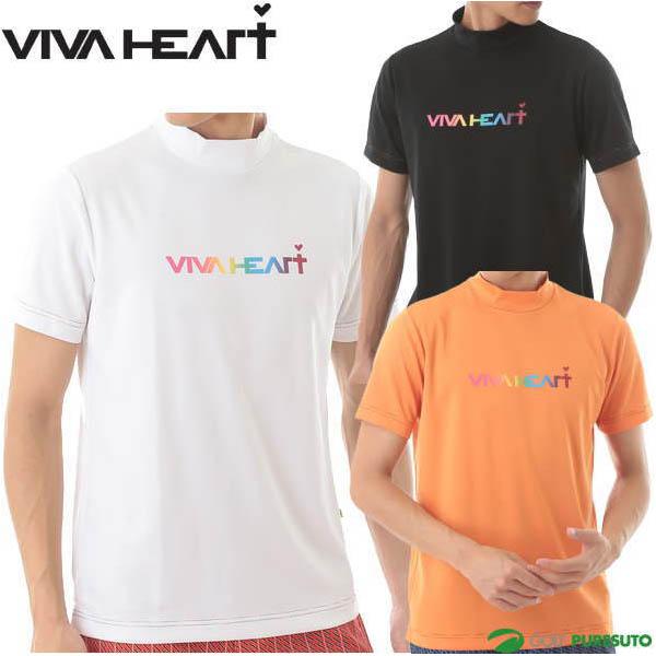 \★先着クーポン配布中★/ビバハート ロゴモック 半袖ネックシャツ メンズ 011-22341