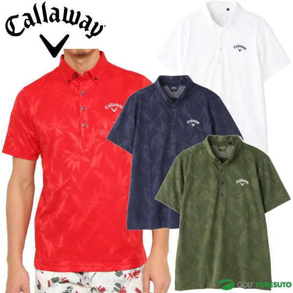 \★先着クーポン配布中★/キャロウェイ クマザサ柄 半袖ボタンダウンシャツ メンズ 241-0134528 ポロシャツ