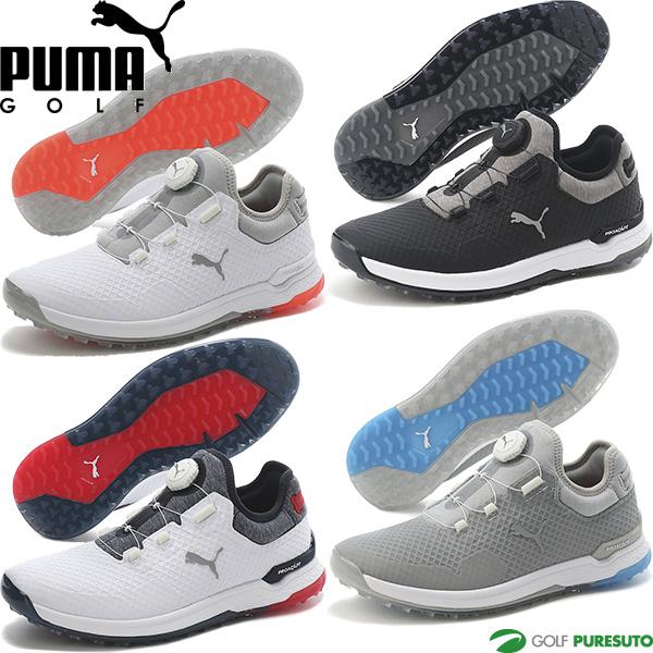 2021年秋冬モデル PUMA GOLF プーマ ゴルフシューズ ショップ ゴルフ プロアダプト アルファキャット シューズ ボア 買取 ディスク メンズ スパイクレス 2E相当 BOA 376043