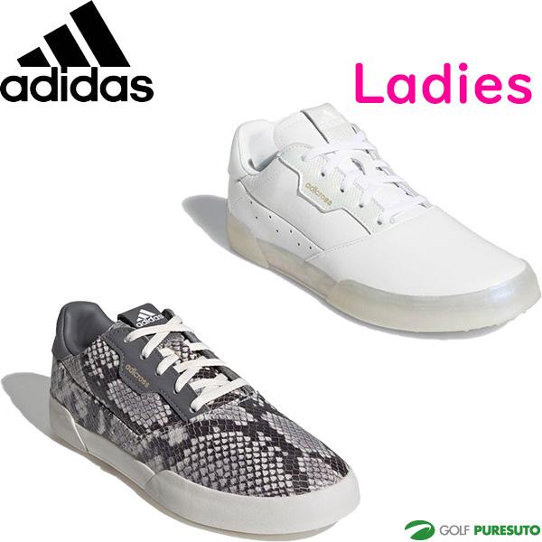 2021年モデル adidas ADICROSS RETRO SPIKELESS SHOES FW6332 FW6331 女性用 靴 ゴルフシューズ レディース スパイクレス アディクロスレトロ 2E相当 紐タイプ ウィメンズ KZI15 オンライン限定商品 アディダス 信頼 ゴルフ