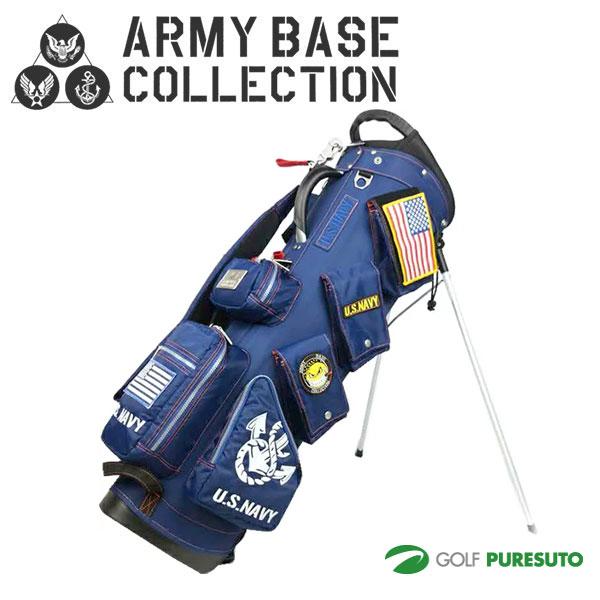 アーミーベースコレクション 9型 キャディバッグ U.S NAVY スタンドバッグ ABC-018SB アイアンカバー付き ネイビー [ARMY BASE COLLECTION ABC018SB]