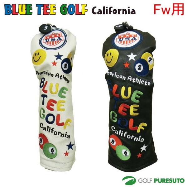 好評受付中 本物 ブルーティーゴルフ カルフォルニア スマイルピンボールヘッドカバー フェアウェイウッド用 California TEE BLUE GOLF