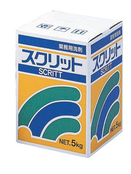 洗濯用品・洗剤が、激安・格安・最安値の 熊野油脂 業務用衣料洗剤スクリット 5kg×3箱入 5ケース以上ケース単位