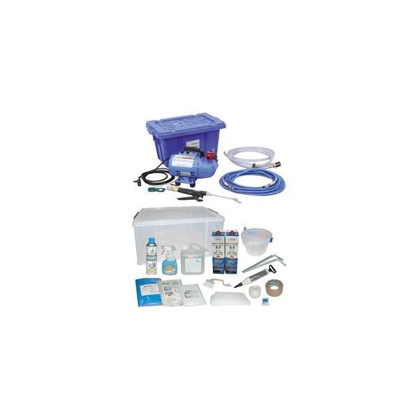 清掃用品・エアコン洗浄剤・業務用・プロ用 横浜油脂工業 エアコン洗浄セット リンダ SNJ-Y-1M 1 セット