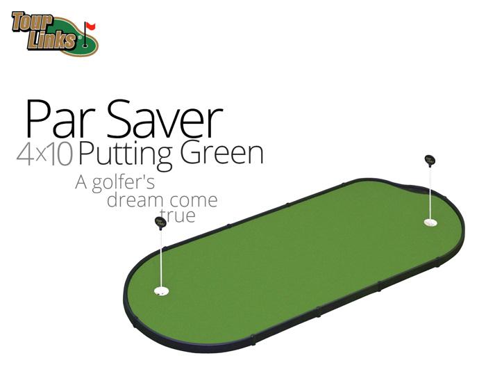 TourLinks ツアーリンクス(PAR SAVER PUTTING GREEN)(4x10フィート)正規品 ゴルフ GOLF トレーニング 練習用品 パターマット