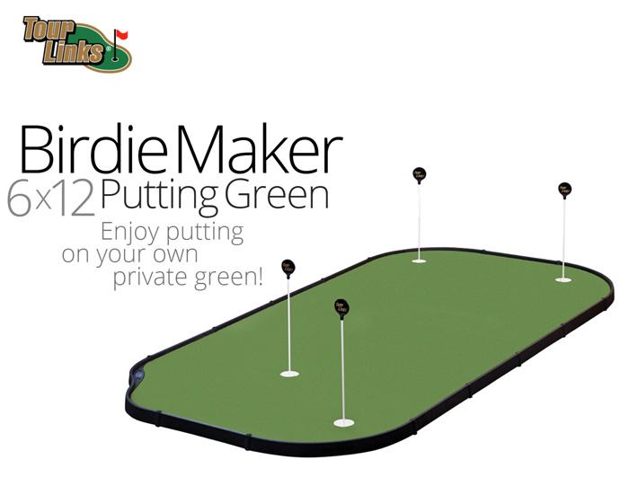 品質満点! TourLinks MAKER ツアーリンクス(BIRDIE MAKER PUTTING GREEN)(6x12フィート)正規品 PUTTING TourLinks ゴルフ GOLF トレーニング 練習用品 パターマット, SHiBA流:c0c348ff --- hortafacil.dominiotemporario.com