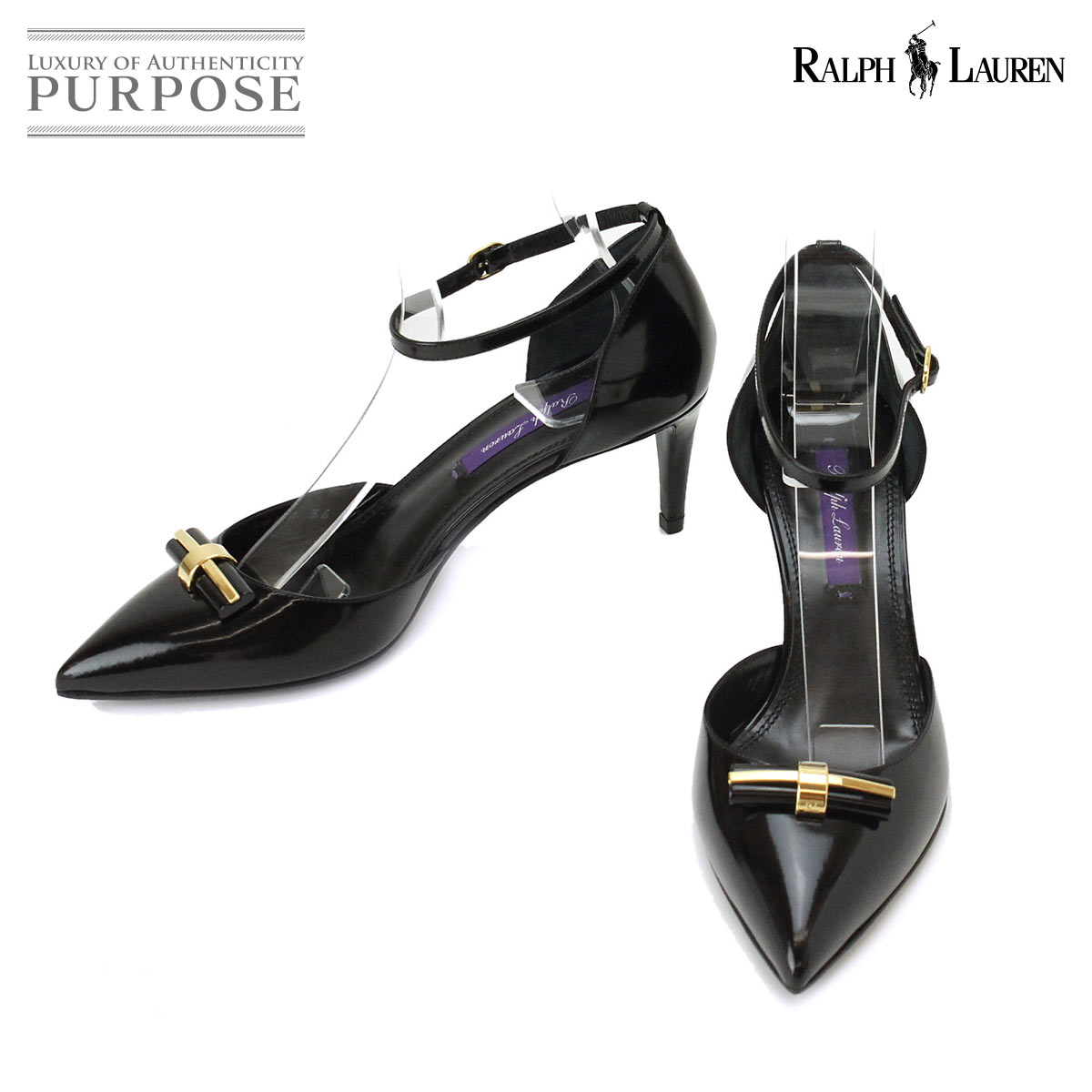 f49cc093280 Unused display Ralph Lauren RALPH LAUREN pumps black leather 36  used   accessory