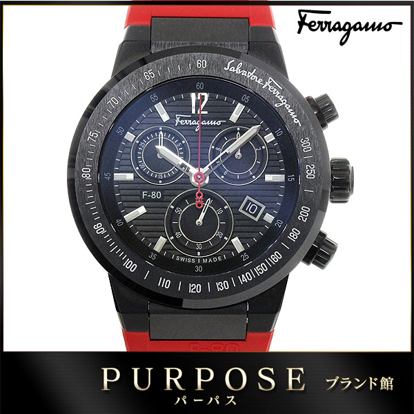 purpose inc rakuten global market salvatore ferragamo salvatore salvatore ferragamo salvatore ferragamo mens watch f55 f 80 chronograph date black black letter edition