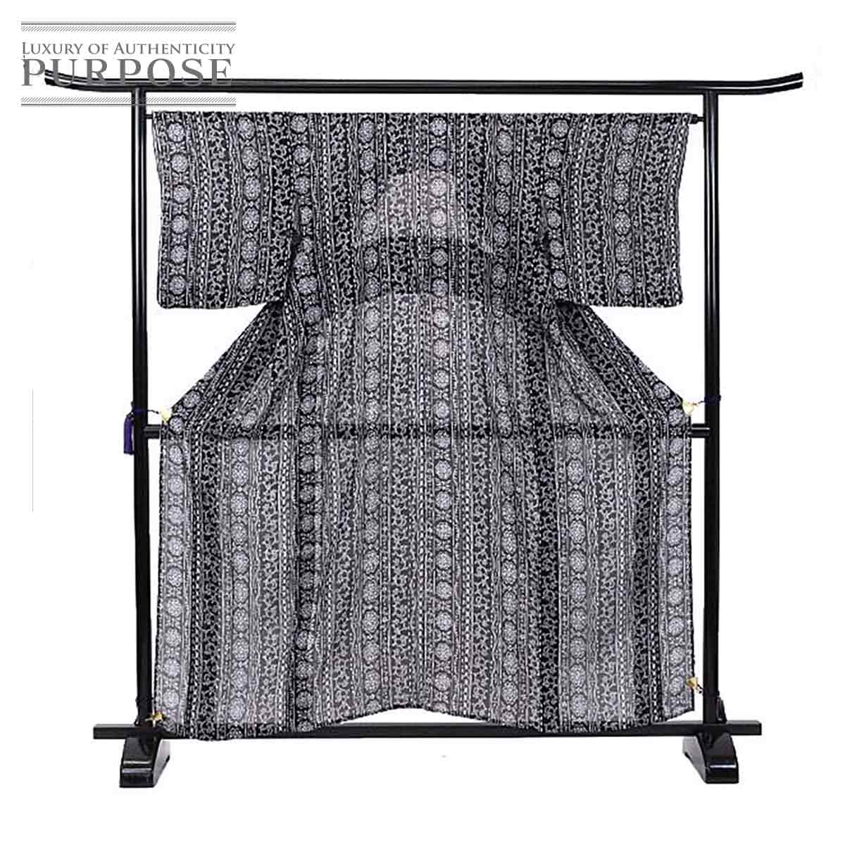 Recycling Lady's of the fine pattern summer unlined clothes silk shrinkage  printed cotton black printed cotton ethnic cool pure silk fabrics kimono