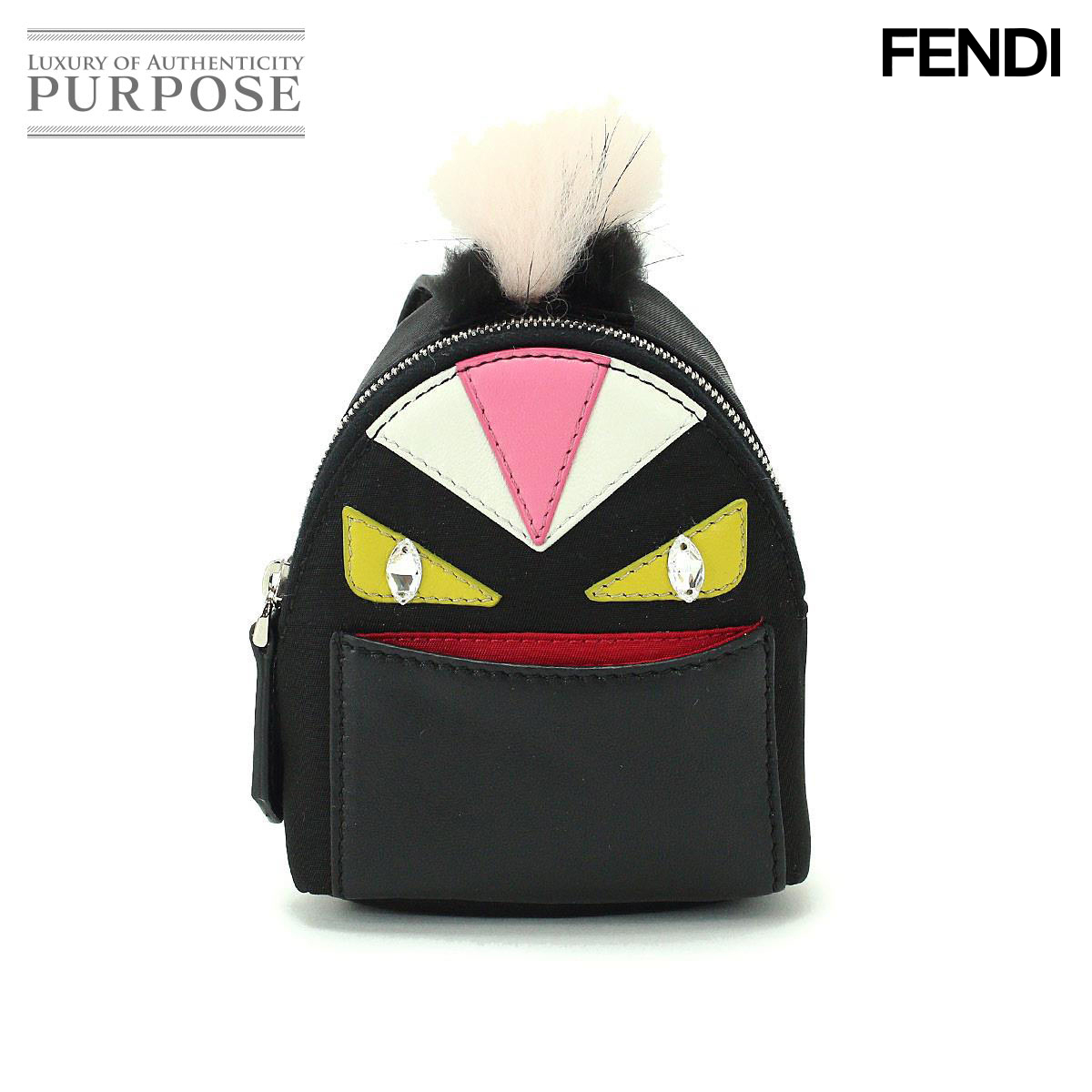 Purpose Inc  Fendi FENDI backpack charm monster bugs fur key ring 7AR457  7787788609ad9