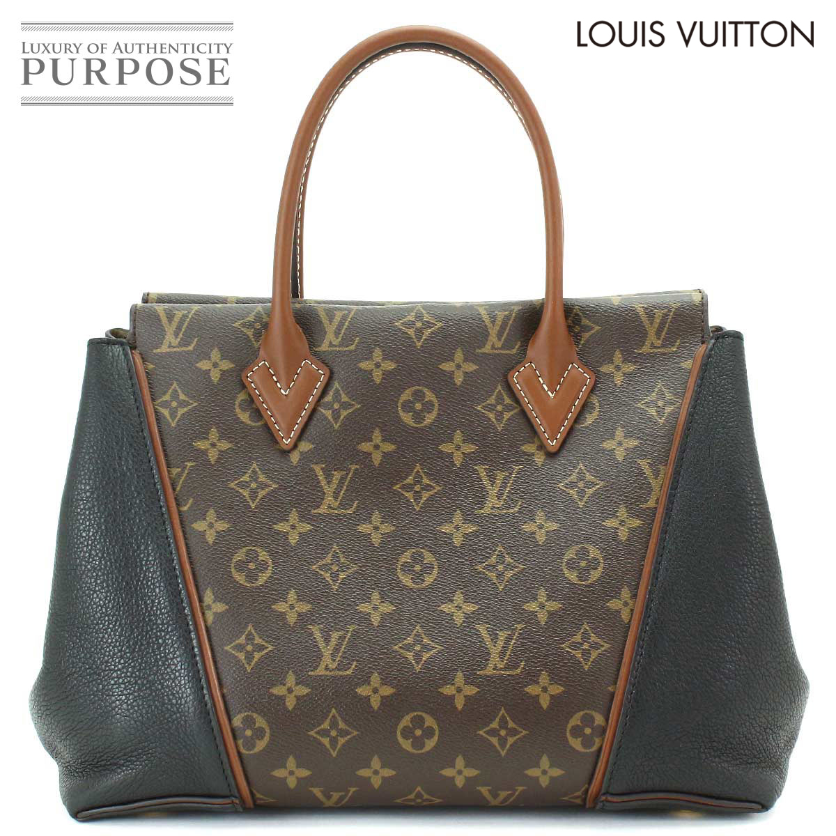 0f4a617517f3 Louis Vuitton LOUIS VUITTON monogram Thoth W PM tote bag leather brown  black M40942  used  brand