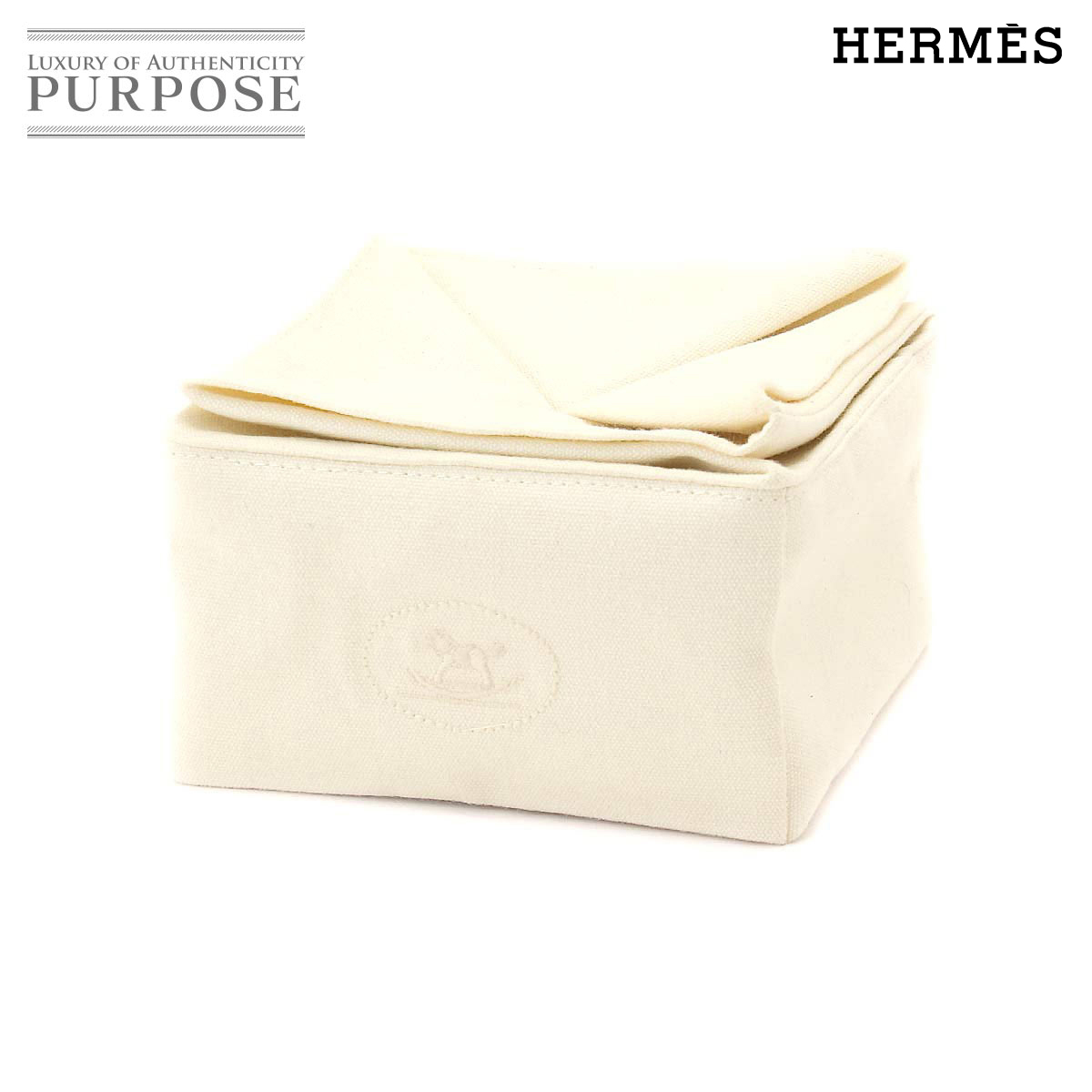 2223056854b  I agree newly  Hermes HERMES Zulu porch cotton accessory case ivory  used   brand