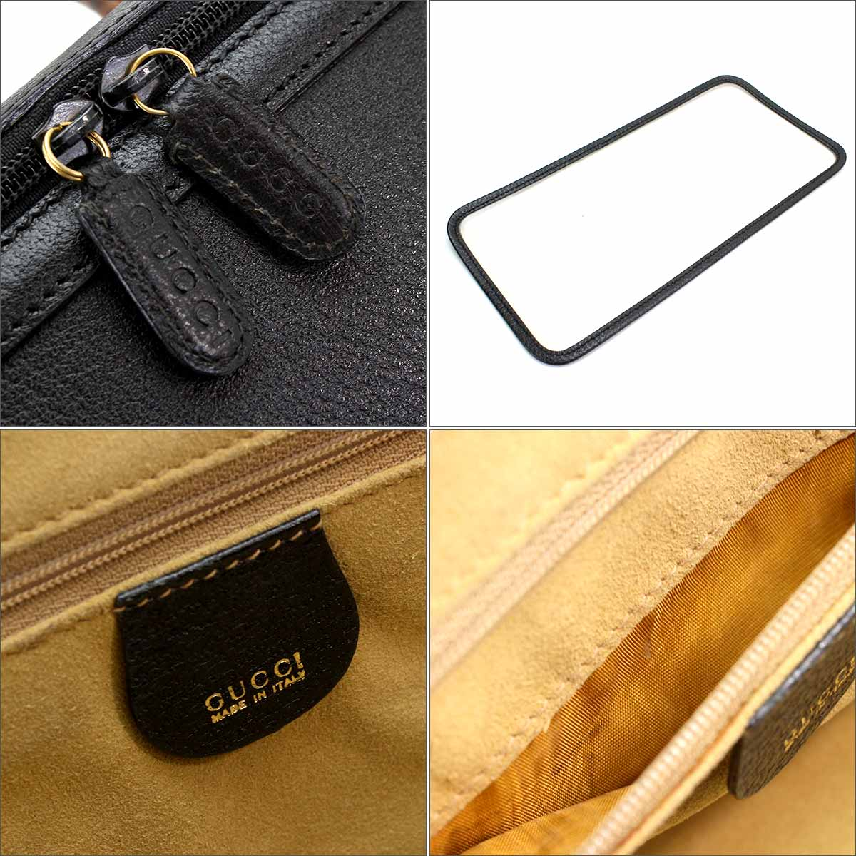 a5cf65bb290a ... With Gucci GUCCI bamboo side type vanity 2WAY hand shoulder bag leather  black 013 122 2491 ...