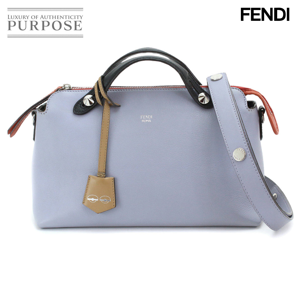 da34039ce2 Fendi FENDI visor way 2WAY hand shoulder bag leather purple black orange  [used] brand