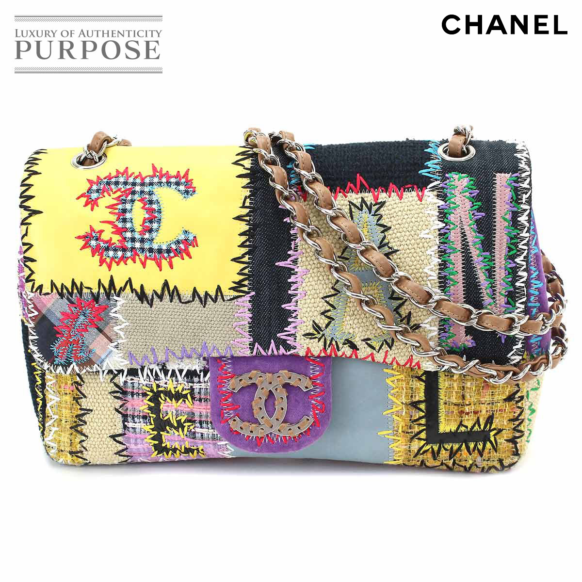 6ac82fa00cf7 [unused display] Chanel CHANEL fabric patchwork chain shoulder bag leather  canvas multicolored A49129 [used] brand